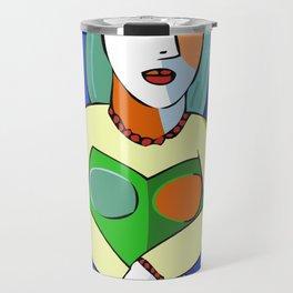 Woman With A Kindle Travel Mug