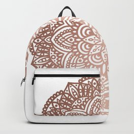 Rose Gold Circular Mandala Backpack