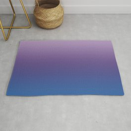 Ultra Violet Blue Lilac Ombre Gradient Pattern Rug