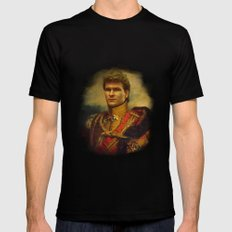 Patrick Swayze - replaceface Mens Fitted Tee Black LARGE