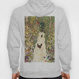 Gustav Klimt Garden Path With Chickens Hoody
