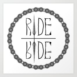 Ride Not Die Art Print