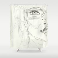 glasses Shower Curtains featuring Glasses by writingoverashes