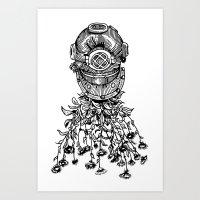 Daisy Diver Art Print