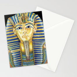 King Tut Colored Pencil Travel Art, Ancient Egypt  Stationery Cards