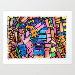 Stained Glass Montage Art Print