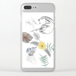 bloom me... a flower of my own Clear iPhone Case