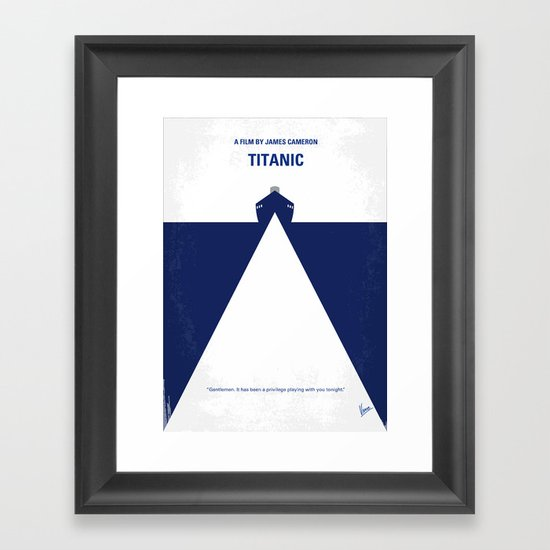 No100 My Titanic minimal movie poster Framed Art Print