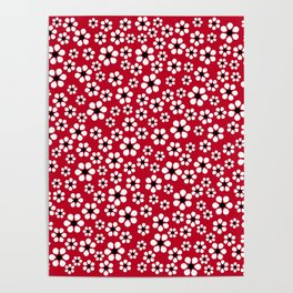 Dizzy Daisies - Red 2 - more colors Poster