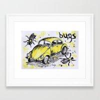 bugs Framed Art Prints featuring bugs by sladja
