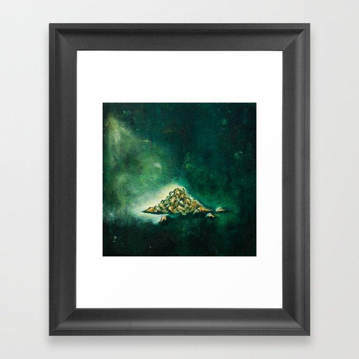 Pile of leaves Framed Art Print