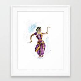 bharatanatyam Framed Art Print