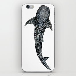 Whale shark for divers, shark lovers and fishermen iPhone Skin