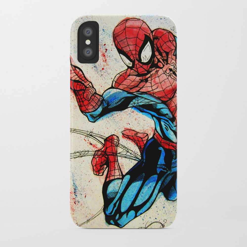 Web-slinger Spider-man Phone Case by Artbyteesa PCS2592465