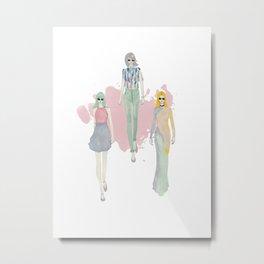Fashionary 7 Metal Print