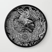 prometheus Wall Clocks featuring Prometheus by Walid Aziz
