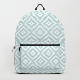 Aztec Block Symbol Ptn Blue & White II Backpack