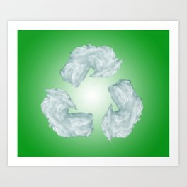 recycling eco symbol Art Print