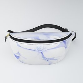 Soft blue delicate flowers Fanny Pack