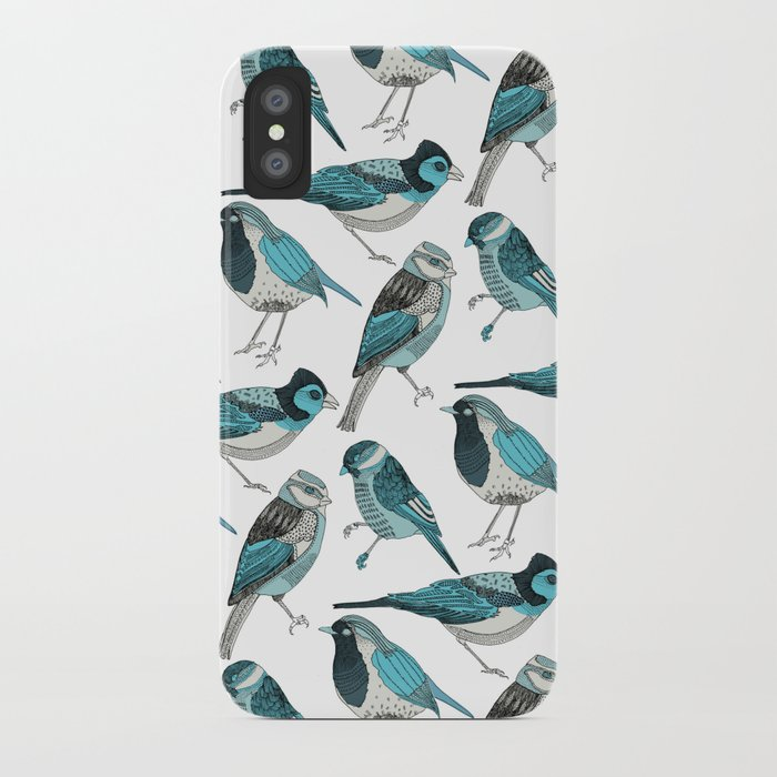 pale green birds iPhone Case