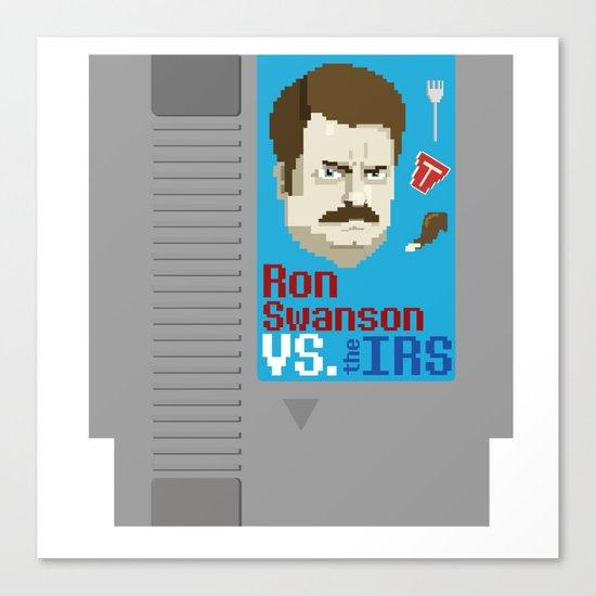 Ron Swanson VS. the IRS Canvas Print