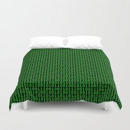 Binary Green Duvet Cover