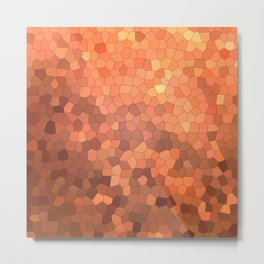Abstract mosaic autumn landscape Metal Print