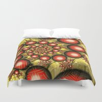chinese Duvet Covers featuring Chinese Balls by Alice Gosling