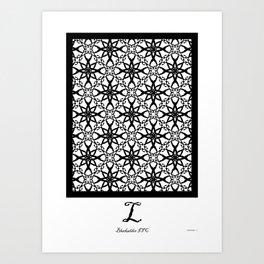 LETTERNS - L - Blackadder Art Print