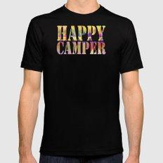Camping Dreams MEDIUM Black Mens Fitted Tee