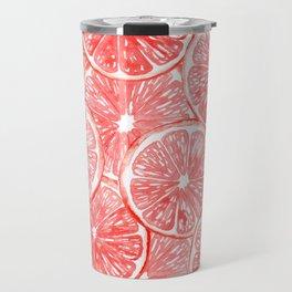 Watercolor grapefruit slices pattern Travel Mug