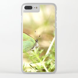 Green Butterfly In The Forest #decor #society6 Clear iPhone Case