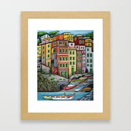 Colours of Riomaggiore Framed Art Print