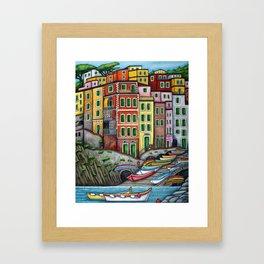 Colours of Riomaggiore Framed Art Print