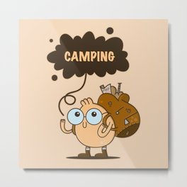 Camping Guy Metal Print