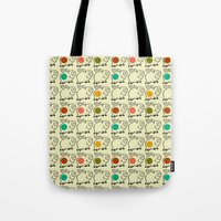 pigs Tote Bags featuring pigs by ururuty