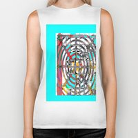 grid Biker Tanks featuring COLOR GRID by  ECOLARTE