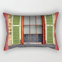 Window Shutters Rectangular Pillow
