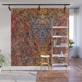 ELECTRIC 071 - Jackson Pollock style abstract design art, abstract painting Wall Mural