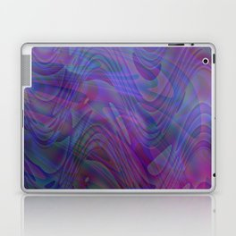 blue swirls Laptop & iPad Skin