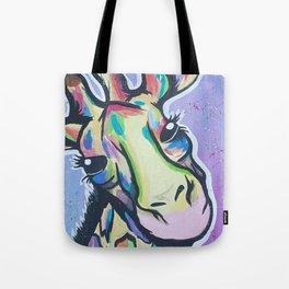 Giraffe Gaze Tote Bag
