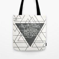 wander Tote Bags featuring Wander by Crystal Manning