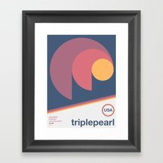 triplepearl single hop Framed Art Print