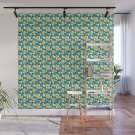 Kawaii Cute Lemon and Leaves Wall Mural