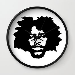 Afro Man Silhouette Wall Clock