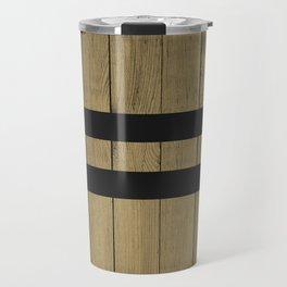 Design Brown Wood Stripes Travel Mug