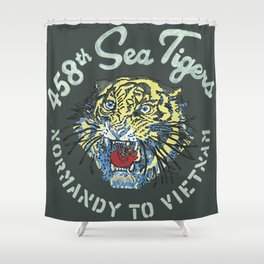 458th Sea Tigers Shower Curtain
