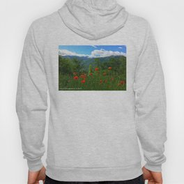 Wild poppies of the Pyrenees mountains Hoody