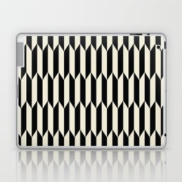 BW Oddities I - Black and White Mid Century Modern Geometric Abstract Laptop & iPad Skin
