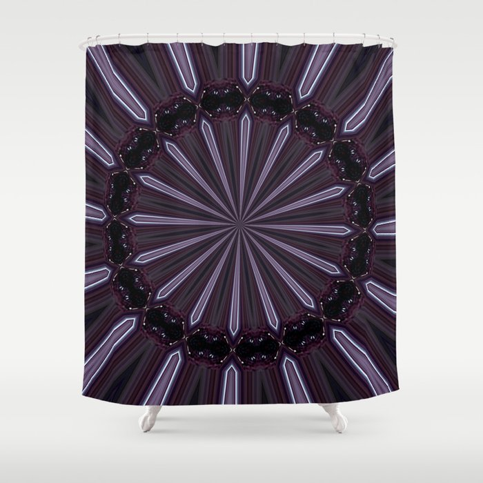 Eggplant and Pale Aubergine Abstract Floral Pattern Shower Curtain ...
